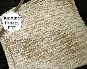 Knit Dishcloth Pattern, Dishcloth Pattern, Knitting Pattern, Dishtowel Pattern, Weave it to Me