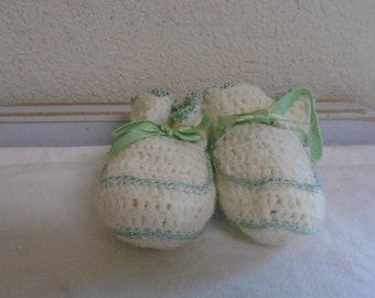 Gorgeous Handmade Crocheted baby booties!