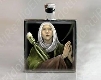 St Apollonia Patron Saint of Dentistry Religious Catholic Christian Medal Pendant necklace / jewelry