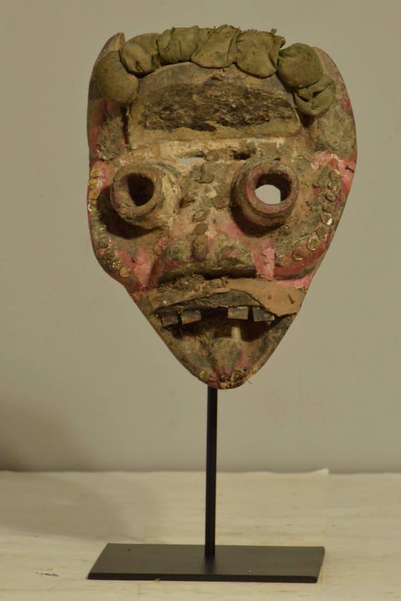 Mask Africa Dan We Guere Wood  Mask Cote d'Ivoire Handmade Initiation Dancing Warrior Mask Wood Statement Unique