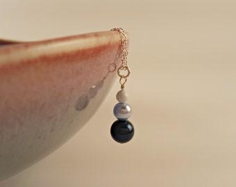 Blue Swarovski Pearl Simple Drop Pendant
