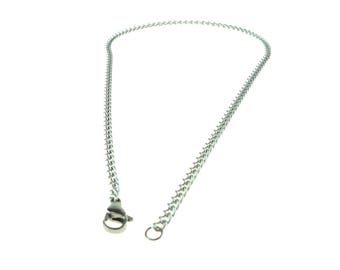 Stainless Steel Chain 15 Inch (38cm) Stainless Steel Lobster Claw Clasp
