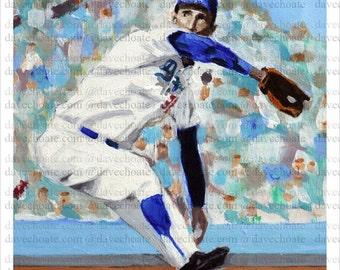 Sandy Koufax, Los Angeles Dodgers Photo Print