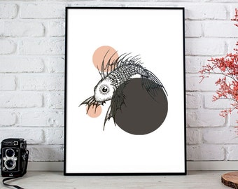 Fish Illustrated Art Print