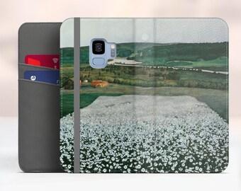 "Harald Sohlberg ""Flower Meadow in the North"" Samsung Galaxy S9 folio case iPhone 7 folio case Galaxy S8 Plus folio Phone cover. WC-HSO-01"