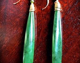 Elegant Jade earrings