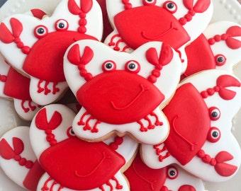 One dozen (12) HAPPY CRABS Sugar Cookies