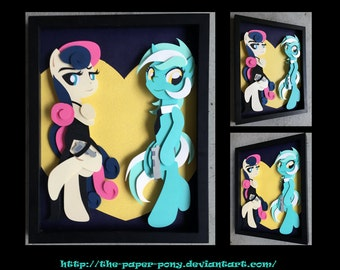 11x14 Lyra and Agent Sweetie Drops Shadowbox