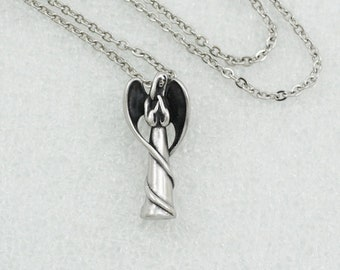 My Angel Urn Necklace |  Cremation Ashes Jewelry | Remembrance Charm Necklace