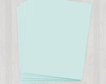 100 Sheets of Cover Stock - Light Blue - DIY Invitations - Paper for Weddings & Other Events