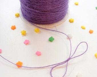 10 yards Purple Burlap String