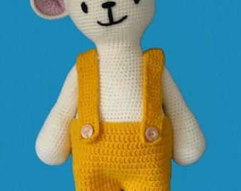 crochet pattern cuddly bunny Rikki, crochet bunny, crocheted bunny