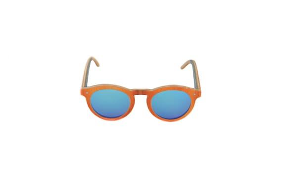 Recycled glasses skateboards BOWL #332 Orange brown blue category 3 #skateboard #MadeinFrance