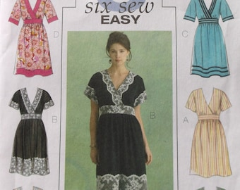 Butterick B5031 Misses Dress Pattern 6 sew easy style dresses pattern size 8-14