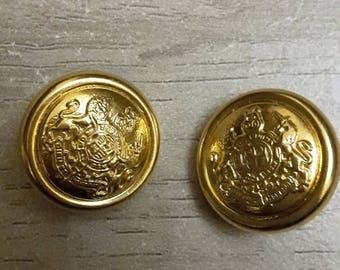 Vintage buttons gold 1960