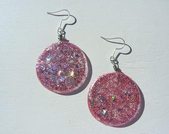 Lil Pink Planet Earrings