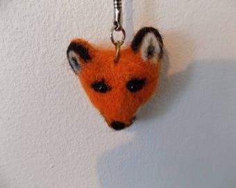 Red Fox head keychain