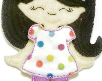 Non paper doll with 1 short set and shoes, felt paper doll, Quiet Game, felt game, travel toy, Birthday Favor, Felt Favor,Children Toy #1526