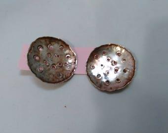 Vintage Sterling Silver Moon Crater Hook Earrings