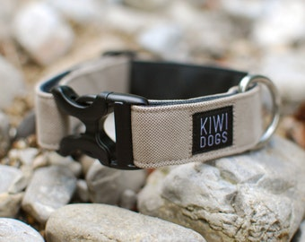 Explorer ADVENTURE Light buckle dog collar - beige sporty lightweight dog collar with plastic harware