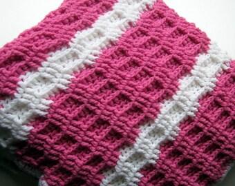 Crochet Baby Blanket Ready to Ship