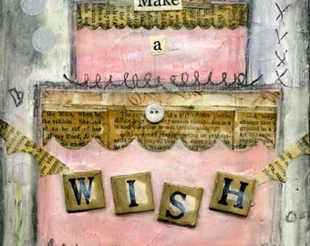Make a Wish Mini Print with Wire