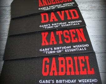 Personalized Gable Box - Great gift box for birthday celebrations, bridesmaids, groomsmen, bachelorette parties, destination weddings...
