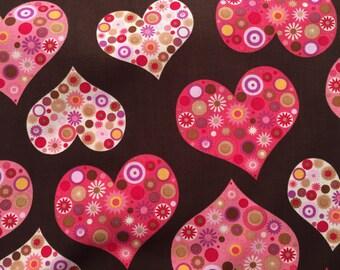 Fat quarter approx size 18/22 inches cotton fabric Robert Kaufman ALL MY HEART