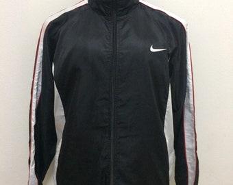 Vintage Nike Sweater Black & White Sport Track Jacket