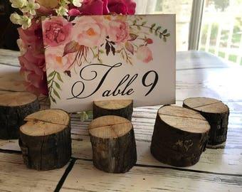Détenteurs de numéro de Table en bois, titulaire de la carte de Place, porte le numéro de Table mariage, mariage rustique, bois lieu détenteurs de la carte de mariage