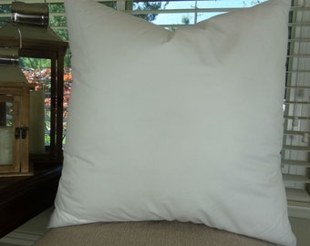 """18x18 Feather Pillow insert - Made in USA 95/5 Feather Down Blend Pillow Insert - 18"""" x 18"""" pillow insert for a 16"""" x 16"""" pillow cover"""