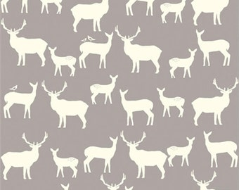 Organic Fitted Crib Sheet | Gray and White Deer