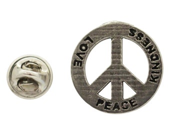 Peace Love Kindness ~ Lapel Pin/Brooch ~ A250