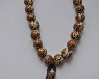 mask African style necklace