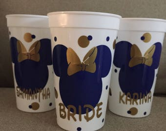 Disney Inspired Bachelorette/Bachelor Personalized Stadium Style Party Cups