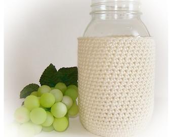 Oyster Ball Mason Jar Cozy Quart size, canning cover, jar sleeve, Eco friendly Hostess Gift