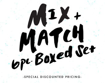 Mix and Match Boxed Set of Cards, 6 Piece, Card Pack