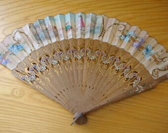 RESERVED for JANE  Vintage Hand Fan