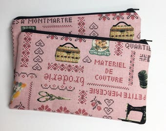 Pencil Case Zip Pouch - Sewing Notions