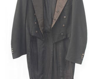 Richman Brothers 1937 Tails Tailcoat Peak Lapels, Cut-Away Frock, Swallow Tail Morning Coat.
