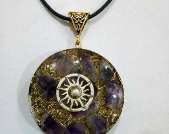Amethyst orgone energy necklace | latest jewelry |orgone energy pendants |boho style necklace