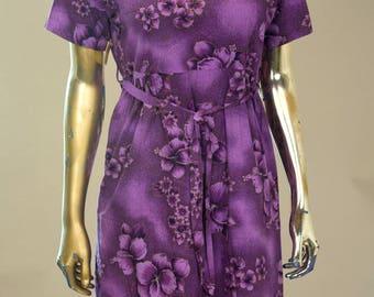 1960s Hawaiian cotton dress