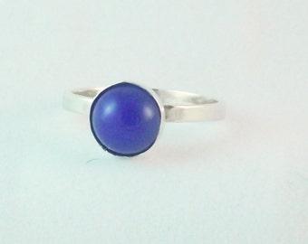 Royal Blue Onyx Stacking Ring
