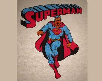Vintage Superman Tshirt Transfer