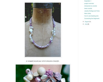 Fabric jewelry online class.