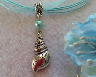 10 Spiral Shell Necklaces Party Favors