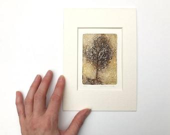 un arbre de gravure originale