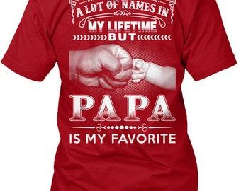 Papa  Favorite Hanes Tagless Tee Tshirt