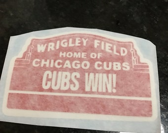 Cubs win decal