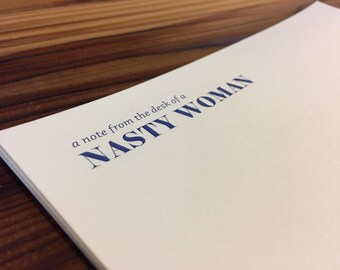 Nasty Woman Stationery Set